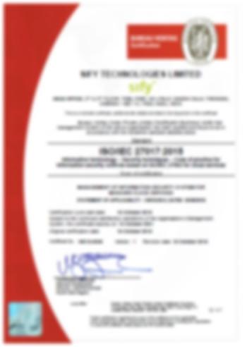 Kluis-Cloud-HSM-DC-ISO-Certificate